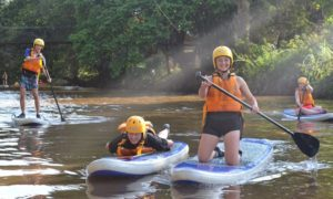 Stand up paddle boarding in Kenya