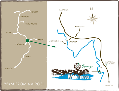 A Map Of How To Find Savage Wilderness From Nairobi
